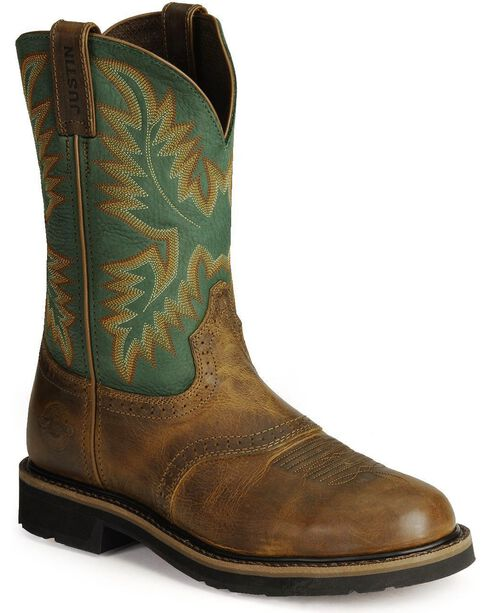Justin Men's Steel Toe Work Boots, Tan Tail, hi-res