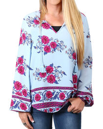 Shyanne® Women's Floral Long Sleeve Blouse, , hi-res