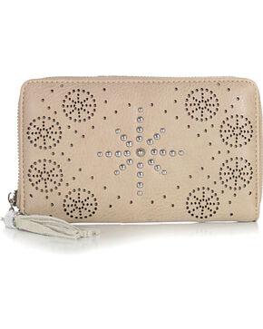 Shyanne Women's Snowflake Stud Wallet, Cream, hi-res