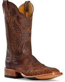 Cinch Men's Classic Wingtip Caiman Exotic Boots, , hi-res
