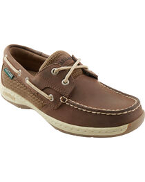 Eastland Women's Bomber Brown Solstice Boat Shoe Oxfords , , hi-res