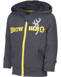 Browning Toddler Boys' Black Otter Hooded Sweatshirt, , hi-res