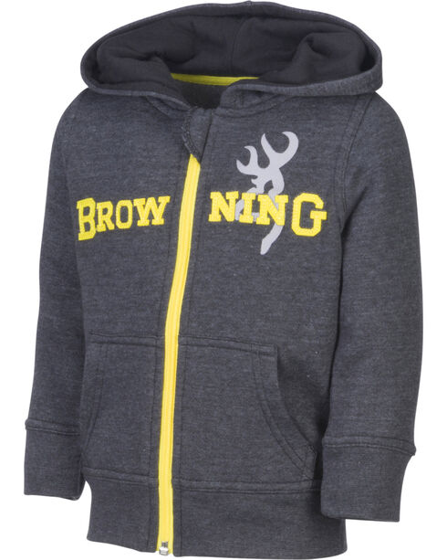 Browning Toddler Boys' Black Otter Hooded Sweatshirt, Black, hi-res