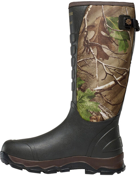 LaCrosse Men's 4X Alpha Realtree Xtra Green Snake Boots - Round Toe, Camouflage, hi-res