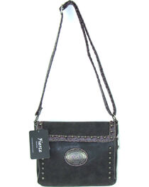 Savana Women's Fierce Conceal Carry Croco Trim Crossbody Purse , , hi-res