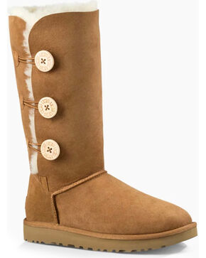 UGG® Women's Bailey Button Triplet Boots, Chestnut, hi-res