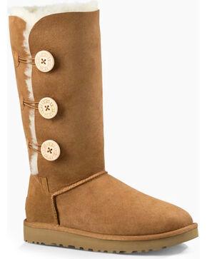 UGG® Women's Bailey Button Triplet Boots, Chestnut, hi-res