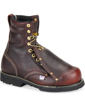 "Carolina Men's 8"" Domestic Metatarsal Guard ST Boots, Dark Brown, hi-res"