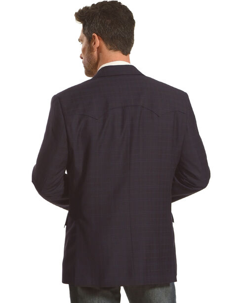 Circle S Platinum Men's Midnight Western Sport Coat, Navy, hi-res