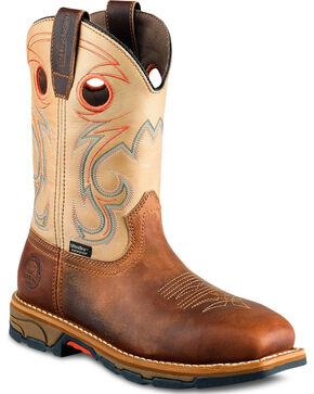 Red Wing Irish Setter Women's Tan Marshall Waterproof Work Boots - Steel Toe, Brown, hi-res