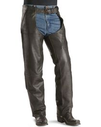 Milwaukee Unisex Gunslinger Leather Motorcycle Chaps, , hi-res