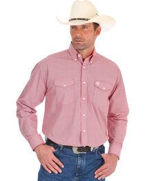 Wrangler Men's George Strait Red Diamond Print Shirt , , hi-res