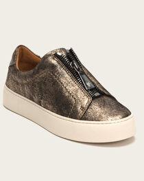 Frye Women's Gunmetal Lena Zip Low Shoes , , hi-res