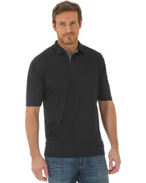 Wrangler Men's Black 20X Advanced Comfort Performance Polo, , hi-res