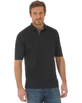 Wrangler Men's Black 20X Advanced Comfort Performance Polo, Black, hi-res