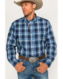 Cody James Men's Martingale Plaid Long Sleeve Button Down Shirt, , hi-res