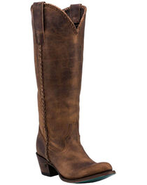 Lane Plain Jane Brown Cowgirl Boots - Round Toe , , hi-res