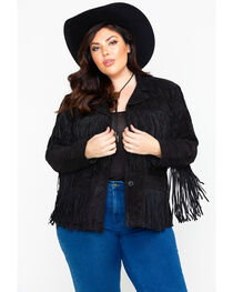 Liberty Wear Women's Fringe Leather Jacket , , hi-res
