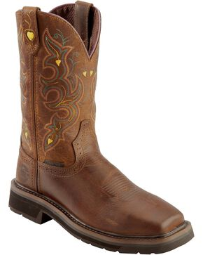 Justin Women's Pull-On Work Boots, Rugged, hi-res