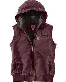 Carhartt Women's Weathered Duck Wildwood Vest, , hi-res