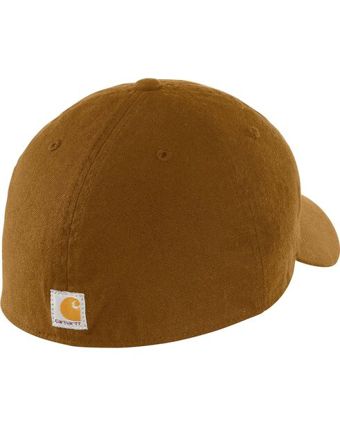 Carhartt Oakhaven Canvas Logo Cap, Brown, hi-res