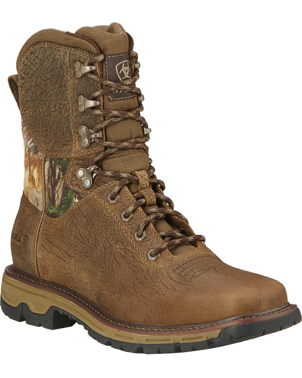 """Ariat Men's 8"""" Conquest Waterproof Hunting Boots, Brown, hi-res"""