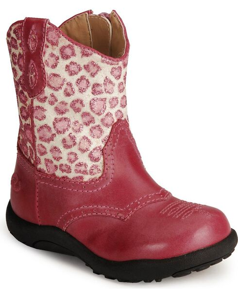 Roper Infant's Chunk Western Boots, Pink, hi-res