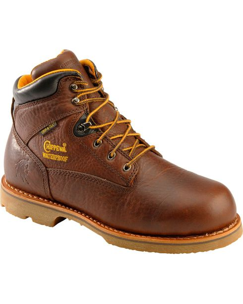 Chippewa Men's Waterproof Insulated Utility Work Boots, Brown, hi-res
