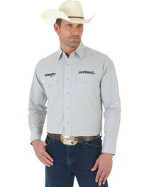 Wrangler Jack Daniel's Logo Grey and White Plaid Shirt, , hi-res