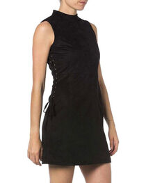 Miss Me Sleeveless Faux Suede Dress, , hi-res