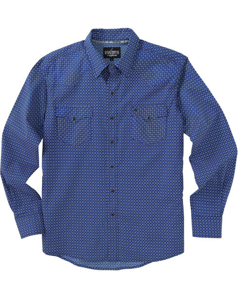 Garth Brooks Sevens by Cinch Print Western Shirt, Blue, hi-res