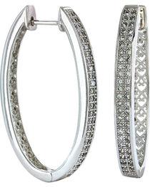 Montana Silversmiths Women's Shining Oval Earrings, Silver, hi-res