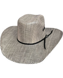 Bullhide Men's Black Smoke Straw Cowboy Hat, , hi-res