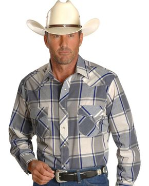Wrangler Men's Sport Stripe Western B&T Shirts, Plaid, hi-res