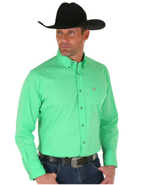 Wrangler Men's Green Performance Shirt , Green, hi-res