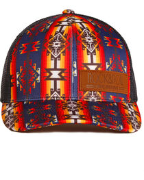 Rock & Roll Denim Women's Native American Print Baseball Cap , , hi-res