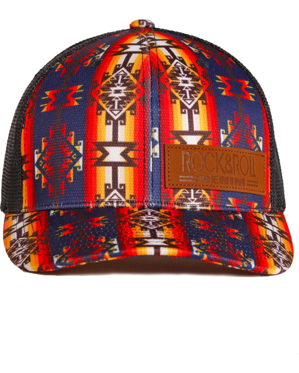 Rock & Roll Denim Native American Print Baseball Cap , Multi, hi-res