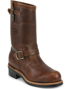 Chippewa Men's Renegade Engineer Boots - Steel Toe, Tan, hi-res