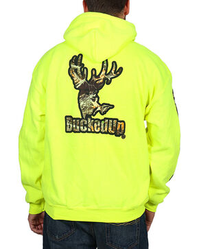 BuckedUp Apparel Unisex Camo Logo Pullover Hoodie, Black, hi-res