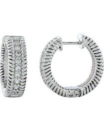 Montana Silversmiths Roped in Brilliance Hoop Earrings, , hi-res
