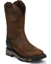 Justin Men's Waterproof Wyoming Work Boots, Brown, hi-res