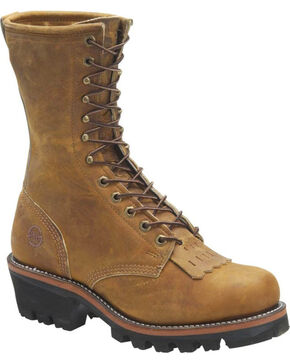 Double H Men's Logger Work Boots, Distressed Brown, hi-res