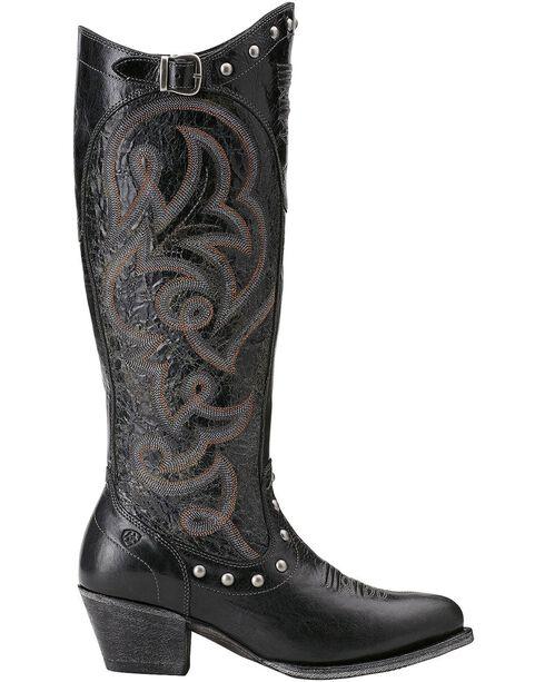 """Ariat Women's 15"""" Wanderlust Fashion Western Boots, Black, hi-res"""