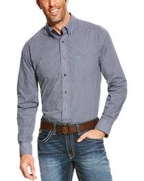 Ariat Men's Blue Argo Sun Print Long Sleeve Western Shirt , , hi-res