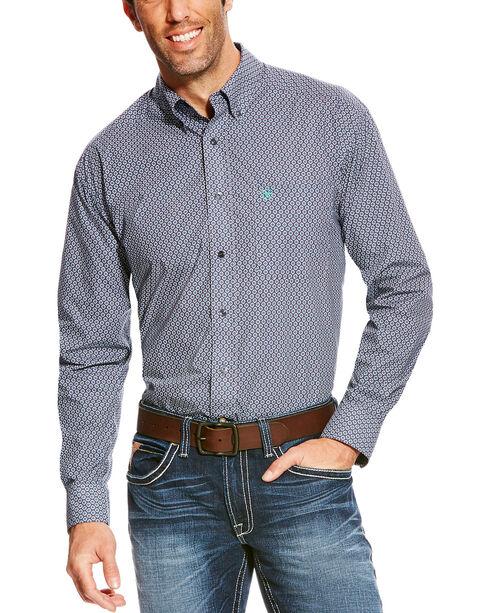 Ariat Men's Blue Argo Sun Print Long Sleeve Western Shirt - Tall , Blue, hi-res