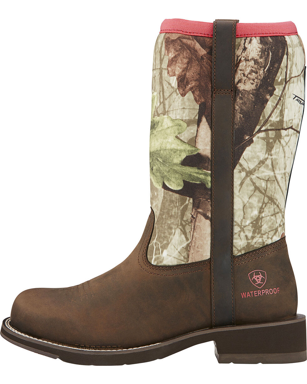 Ariat Women's Fatbaby All Weather Western Boots, Brown, hi-res