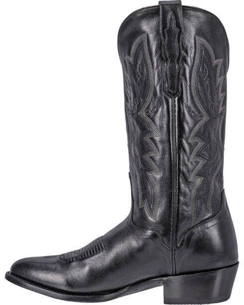 El Dorado Men's Round Toe Vanquished Calf Western Boots, Black, hi-res