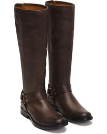 Frye Women's Smoke Phillip Harness Tall Boots - Round Toe , , hi-res