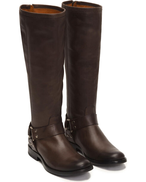 Frye Women's Smoke Phillip Harness Tall Boots - Round Toe , Grey, hi-res