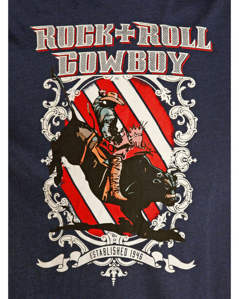 Rock & Roll Cowboy Boys' Rodeo Graphic Tee, Navy, hi-res